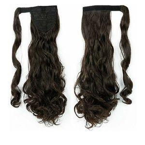 Wrap around ponytail extensions
